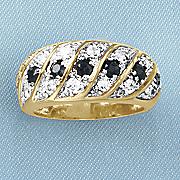 black sapphire pave ring