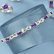 amethyst emerald cut bracelet