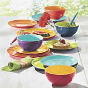 12-Piece Assorted Mighty Melamine Dinnerware Set