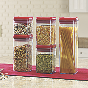 10 pc  flip tite canister set