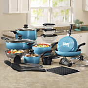 chef tested 31 pc  gradient cookware set by montgomery ward
