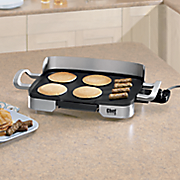 chef tested electric nonstick griddle with backsplash by montgomery ward