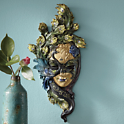 gold peacock wall mask