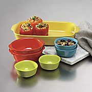7 pc  assorted bakeware set by corningware