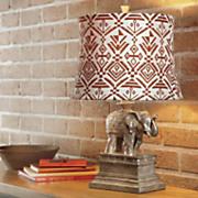 goldtone elephant table lamp