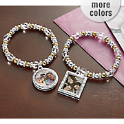 inspirational stretch bracelet with photo frame