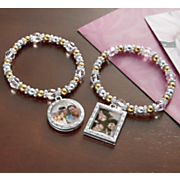 inspirational stretch bracelet with photo frame