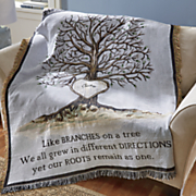 Personalized Family Tree Throw