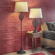 Woven Wire Floor Lamp