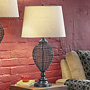 Woven Wire Table Lamp
