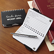 smile more worry less password book