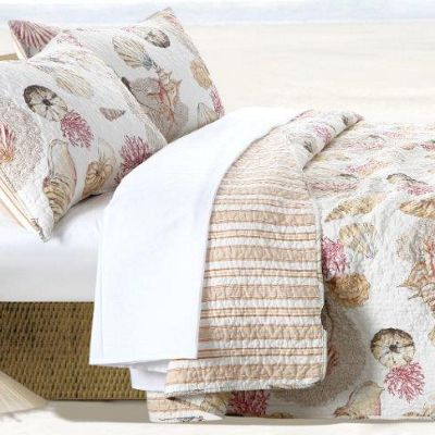 Castaway Quilt Set, Throw and Shower Curtain