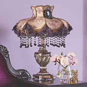 purple lace victorian table lamp