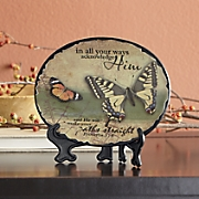 acknowledge him plaque with stand