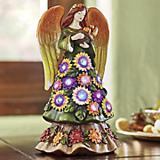 fiber optic harvest angel figurine