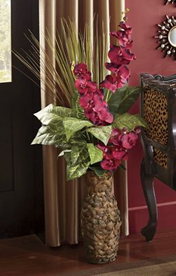 Hyacinth Burgundy Floral in Vase