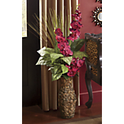 hyacinth burgundy floral in vase