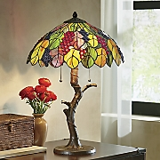 Vintner's Stained Glass Table Lamp
