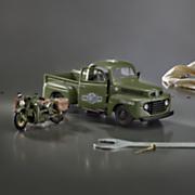 harley davidson 1942 military wla flathead with 1948 ford f1 pickup