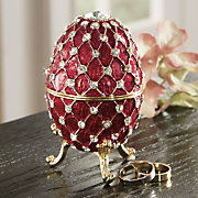 jeweled red egg
