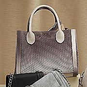 bperfie perforated bag in bag tote by steve madden