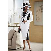 jeena hat and skirt suit