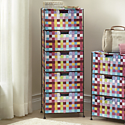 pretty pixels 5 drawer woven organizing bin