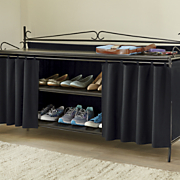 scrolled short shoe rack