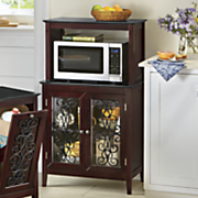 scroll front microwave cart