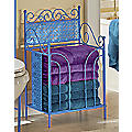 Lacey Blue Towel Stacker