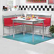 Retro Dining Nook with Table
