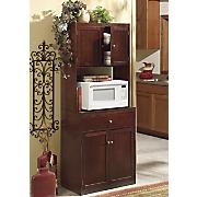 Beadboard Microwave Cabinet