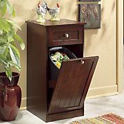 Beadboard Trash Bin Cabinet