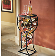wine glass table with rack
