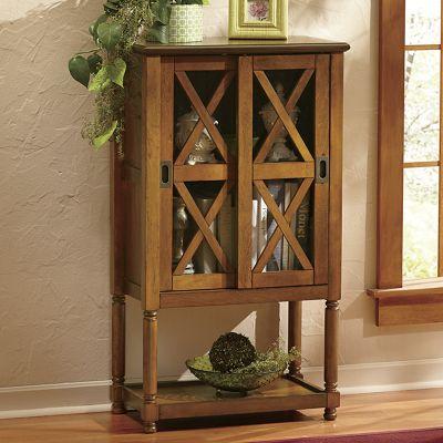 Sliding Door Curio Cabinet