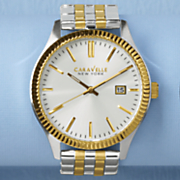 men s two tone watch by caravelle