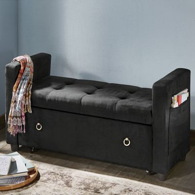 In Seat Storage Bench From Midnight Velvet 738529