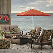 tan loveseat and chair