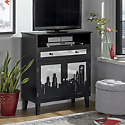 cityscape tall entertainment cabinet