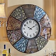 Mixed Print Wall Clock