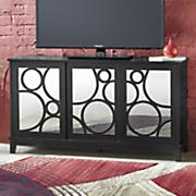 Mirrored Circle TV Stand