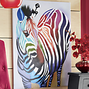 living color zebra oil painting on canvas