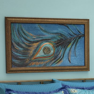 3-D Peacock Feather Wall Art