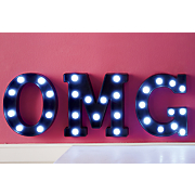 lighted 3 letter marquee