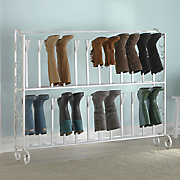2 tier scrolled boot rack
