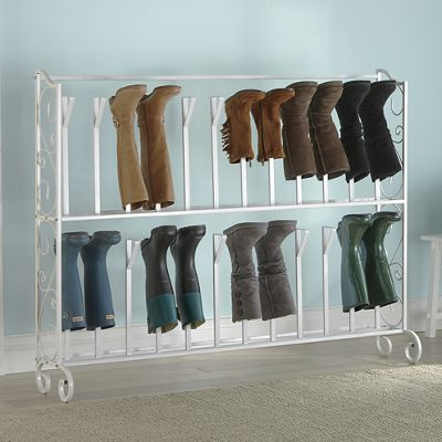 2-Tier Scrolled Boot Rack