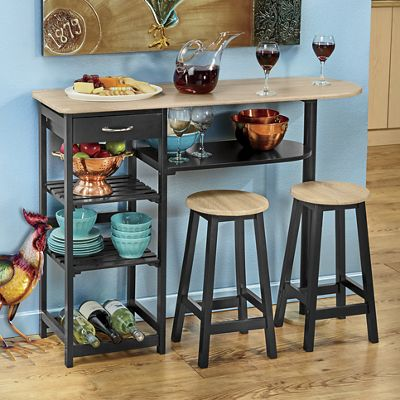 All-Purpose Kitchen Island with Stools