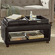 ottoman with 2 trays
