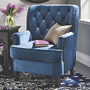 madison tufted nailhead chair