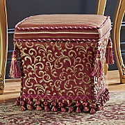 storage ottoman with tassels